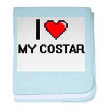 I love My Costar baby blanket