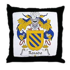 Rosado Family Crest Throw Pillow