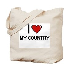 I love My Country Tote Bag