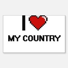 I love My Country Decal