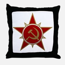 Hammer and Sickle Throw Pillow