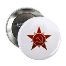 """Hammer and Sickle 2.25"""" Button"""