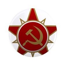 """Hammer and Sickle 3.5"""" Button (100 pack)"""