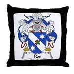 Ros Family Crest Throw Pillow