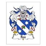 Ros Family Crest Small Poster