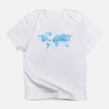 Wanderlust, blue world map Infant T-Shirt