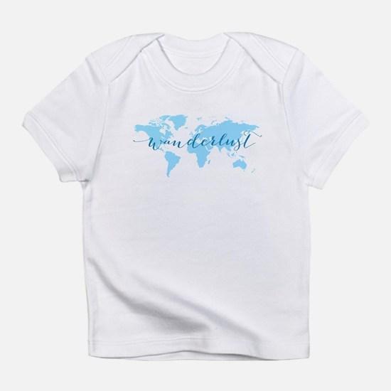 Wanderlust, blue world map Infant T-Shirt