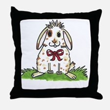 Chubby bunny Milly Throw Pillow