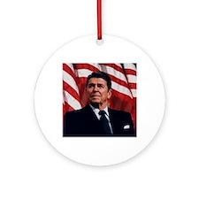 Ronald Reagan Round Ornament