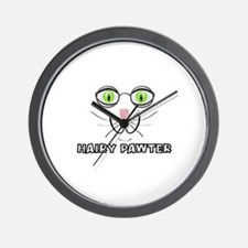 CATS - HAIRY PAWTER Wall Clock