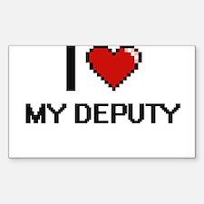 I Love My Deputy Decal