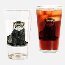 Cool Ferrets Drinking Glass