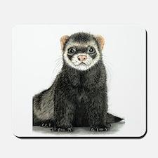 High detail ferret design Mousepad