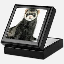 High detail ferret design Keepsake Box