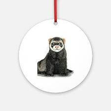 High detail ferret design Round Ornament