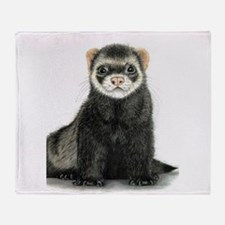 High detail ferret design Throw Blanket