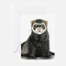 High detail ferret design Greeting Cards