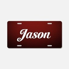 Your Name Red Aluminum License Plate