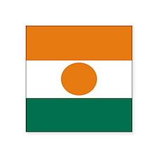 Square Nigerien Flag Sticker