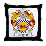 Rodrigo Family Crest Throw Pillow