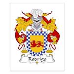 Rodrigo Family Crest Small Poster