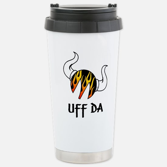 Moreuffdaflames.jpg Travel Mug