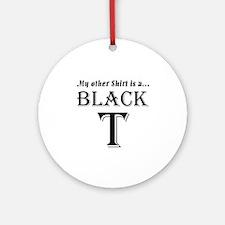 Black T Ornament (Round)