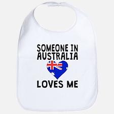 Someone In Australia Loves Me Bib