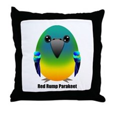Male Red Rumped Parakeet Throw Pillow