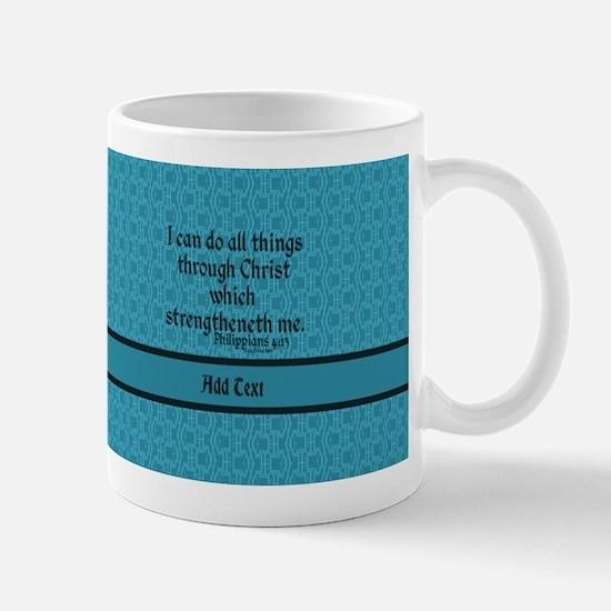 Philippians 4:13 Word t Stainless Steel Travel Mug