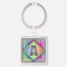 Cool Abagail Square Keychain
