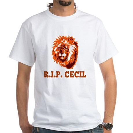 RIP Cecil the Lion White T-Shirt