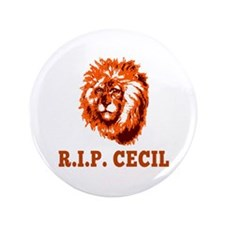 RIP Cecil the Lion Button