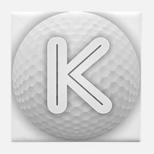K Golf Ball - Monogram Golf Ball - Mo Tile Coaster