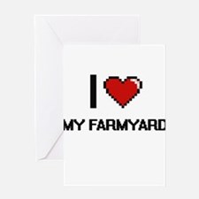 I Love My Farmyard Greeting Cards