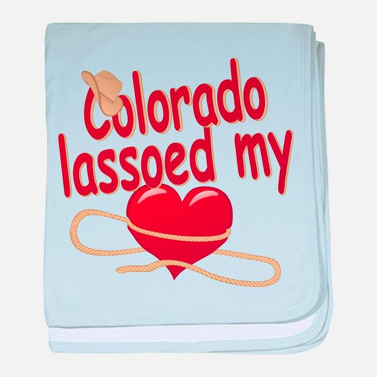 Colorado Lassoed My Heart baby blanket