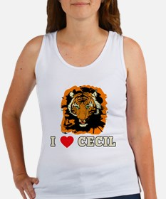 I LOVE CECIL THE LION Women's Tank Top