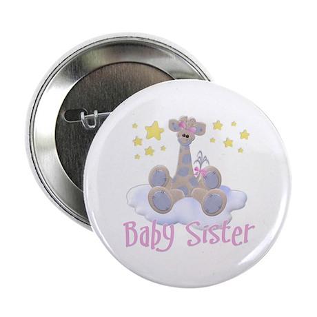 Baby Sister Giraffe Button