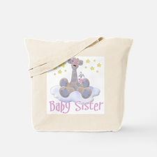 Baby Sister Giraffe Tote Bag
