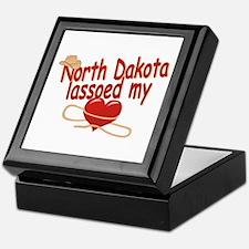 North Dakota Lassoed My Heart Keepsake Box
