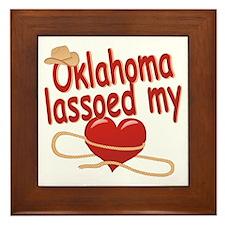 Oklahoma Lassoed My Heart Framed Tile