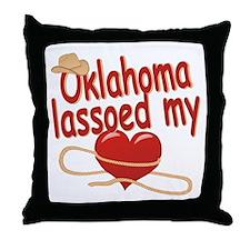 Oklahoma Lassoed My Heart Throw Pillow