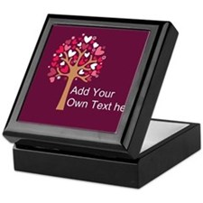 Custom add text love Keepsake Box