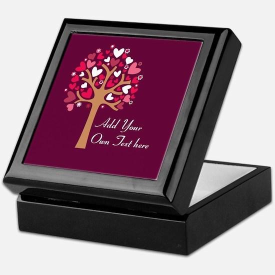 Custom add text love Keepsake Box