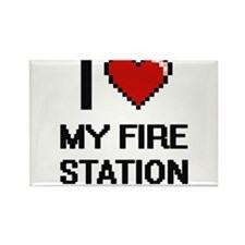 I Love My Fire Station Magnets