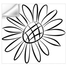 Sunflower Lines Wall Decal