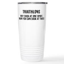 Cool Triathlon Thermos Mug