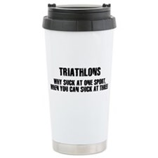 Unique Half ironman Travel Mug