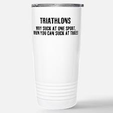 Funny Triathlons Travel Mug