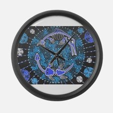 Jurassic Seas Large Wall Clock